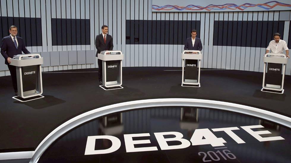 Críticas y reproches entre los cuatro candidatos en el día después del debate electoral