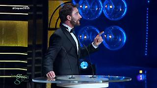 Dani Rovira y el minuto mejor aprovechado de los Goya 2015