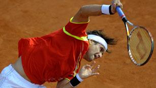 David Ferrer no falla y suma el primer punto para España