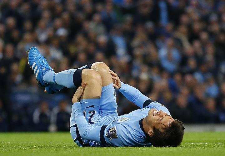 David Silva, lesionado en el Manchester City
