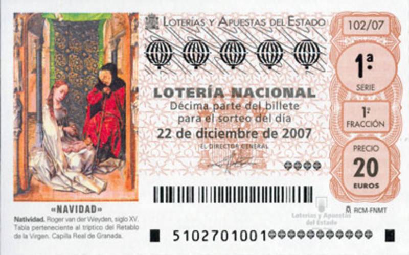 Décimo de Lotería de Navidad de 2007