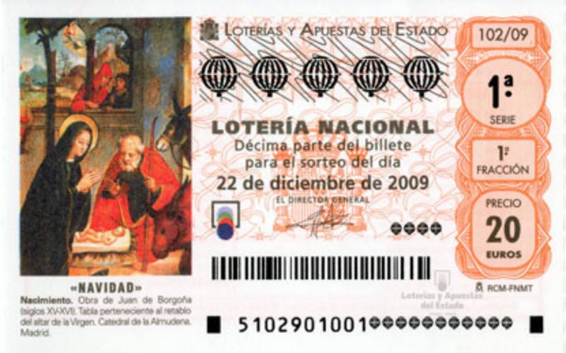 Decimo de Lotería de Navidad de 2009