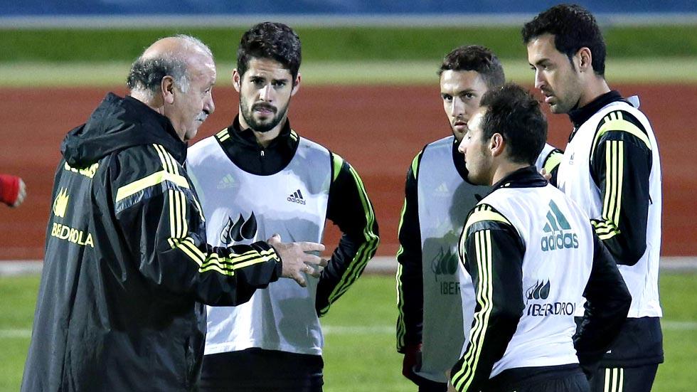 Del Bosque prueba con dos 'nueves': Alcácer y Morata