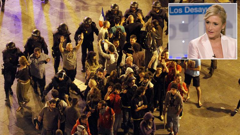 """La Delegada del Gobierno considera """"impecable"""" y """"mesurada"""" la actuación policial en Sol"""