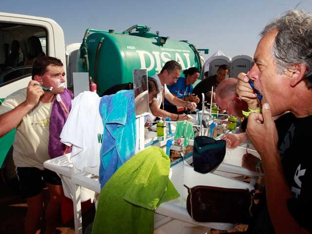 Descanso necesario en el Dakar