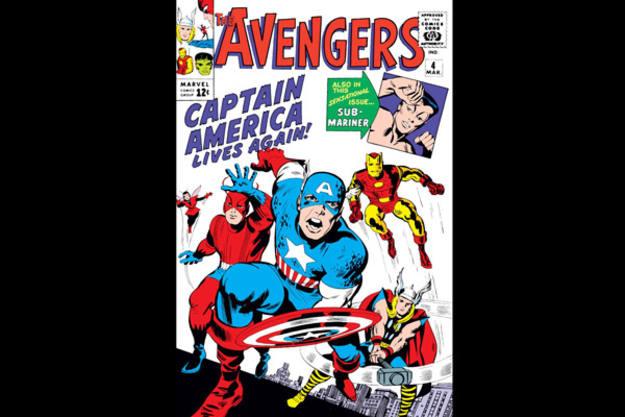 Desde su llegada, en el nº 4 de la colección, el Capitán América se convirtió en el símbolo de 'Los Vengadores'
