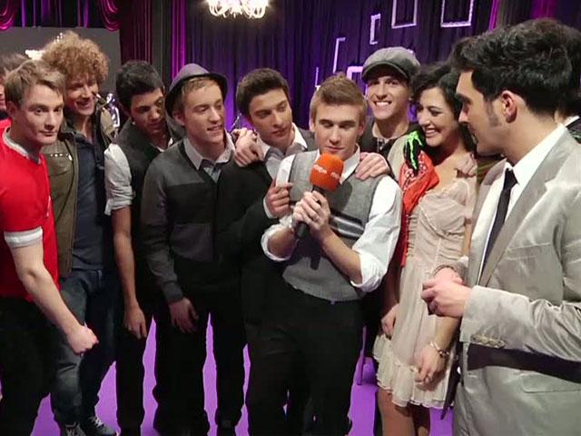 Destino Eurovisión - Los ganadores de la primera gala celebran el triunfo en el backstage