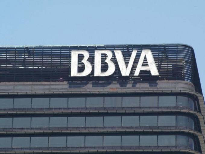 Detalle de una de las sedes de BBVA en Madrid