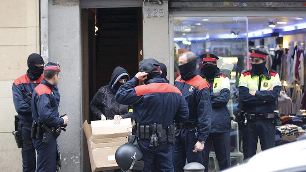 Once detenidos en una operación contra el terrorismo anarquista en Cataluña