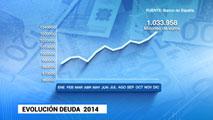 Ir al VideoLa deuda pública sube y cierra 2014 en el 98,1% del PIB