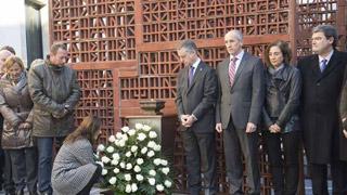 La división marca la celebración del Día de la Memoria de las Víctimas en el País Vasco