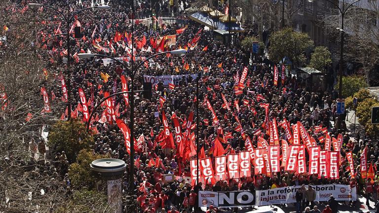 Día de protestas en muchas ciudades españolas