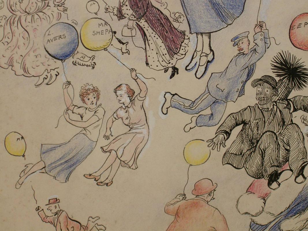 Dibujo original de la escritora Pamela Travers