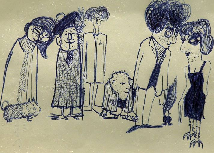 Dibujo realizado por John Lennon puesto a la venta en Nueva York