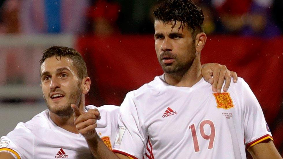 Diego Costa adelanta a España en Albania (0-1)
