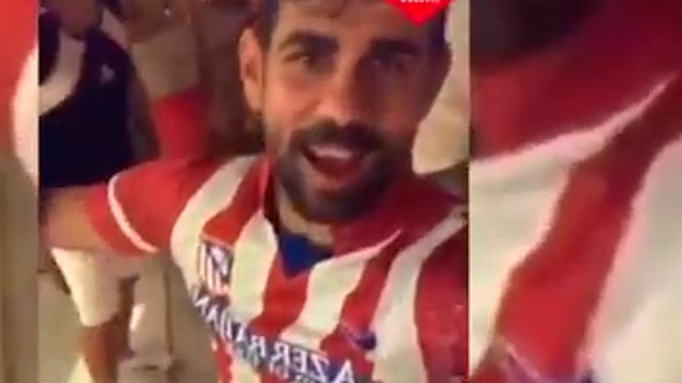 Diego Costa ya se viste del Atlético