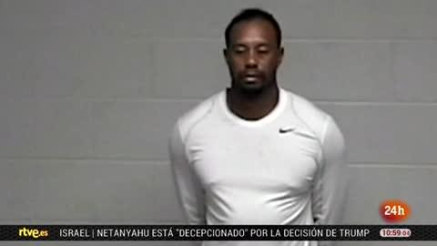 Difunden más imágenes de la detención de Woods
