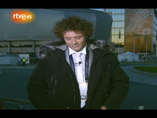 Eurovisión 2010 - Dani Diges, tras el 'susto' del espontáneo