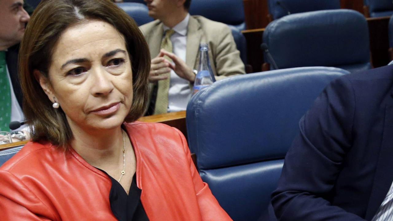 La diputada del PP Elena González-Moñux en una imagen de archivo en la Asamblea de Madrid