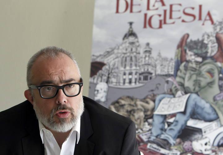 """El director Álex de la Iglesia, durante la presentación de su novela """"Recuérdame que te odie"""""""