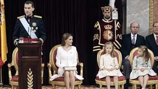 Ver vídeo  'Discurso íntegro del rey Felipe VI en la ceremonia de proclamación ante las Cortes'