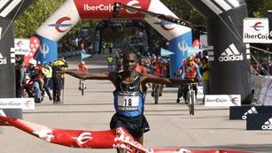 Doblete keniata en el maratón de Madrid
