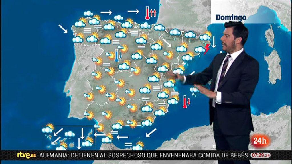 Domingo nuboso con chubascos en el noreste de Cataluña y en Baleares