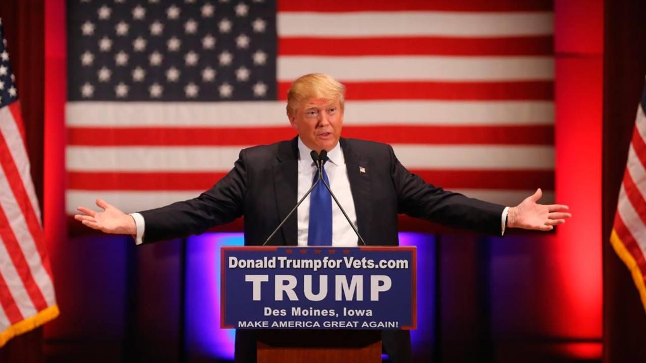 Donald Trump, durante el acto paralelo