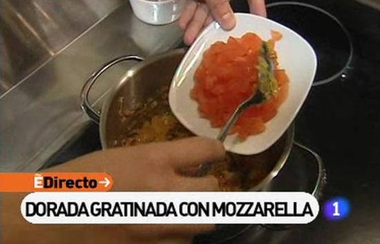 España Directo - Dorada gratinada con mozarella