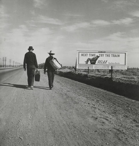 """Dorothea Lange, """"On the Road to Los Angeles, California"""". (1937)"""