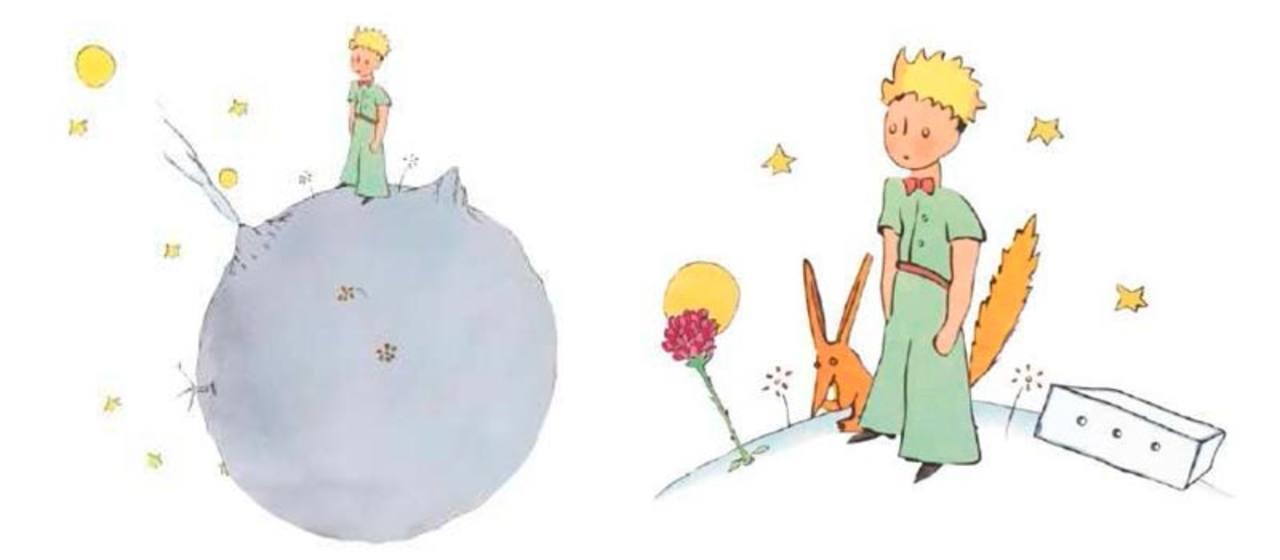 Dos de los dibujos más famosos de 'El Principito'