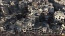 Ir al VideoUn dron muestra la devastación en Homs, la 'capital' de la revolución siria