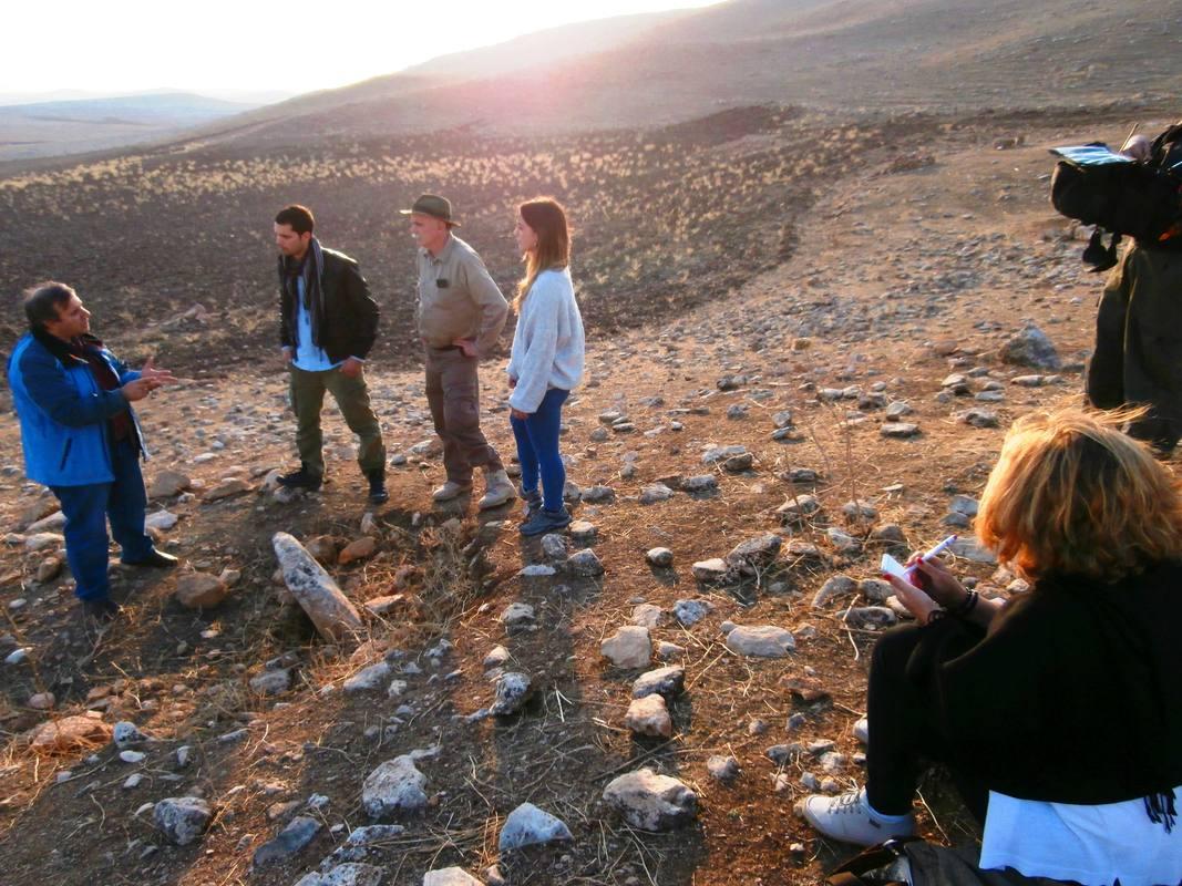 Durante la grabación del documental 'En busca del futuro perdido'