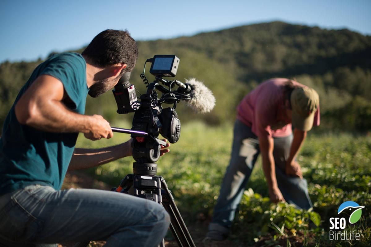 Durante la grabación de la serie sobre la 'Red Natura 2000'
