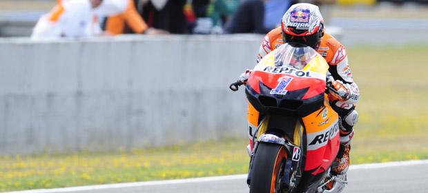 Casey Stoner se ha impuesto en el circuito de Jerez.