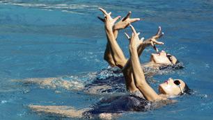 Un ejercicio muy flamenco para natación sincronizada