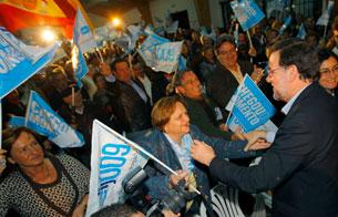 Actos electorales de la jornada en Galicia