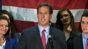 La renuncia de Rick Santorum allana el camino al favorito, Mitt Romney