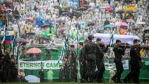 Emotiva despedida en Chapecó a las víctimas del accidente