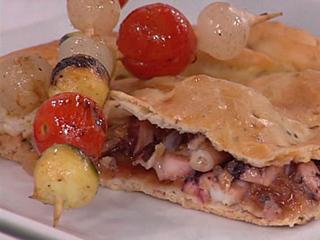 Saber cocinar - Empanada de sardinillas con brochetas de la huertas (21/11/2011)