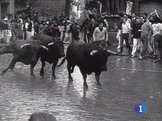 Ver vídeo  'Los encierros en los años 70, en blanco y negro'
