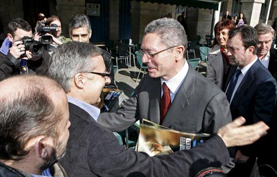 José Blanco y Alberto Ruiz-Gallardón han coincidido hoy en Lugo