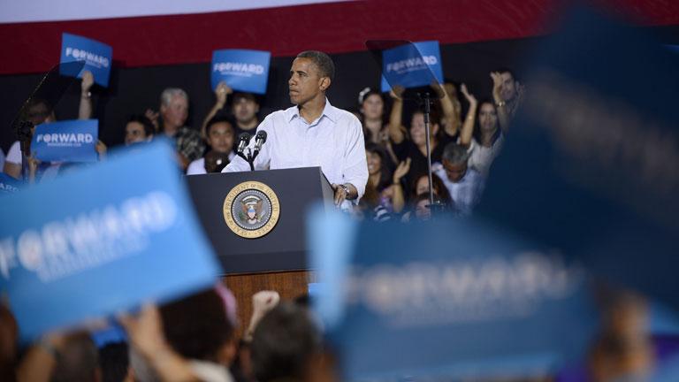 Las encuestan dan una ventaja de 4 puntos a Obama frente a Romney