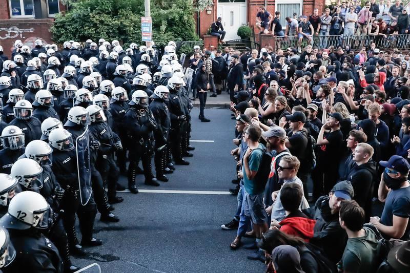 Enfrentamiento con la policía