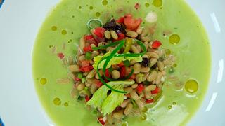 Torres en la cocina - Ensalada de verdinas con crema de lechuga