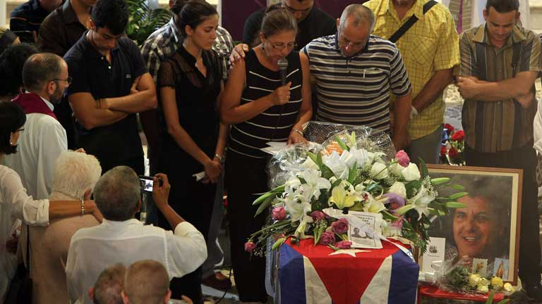 Entierro en La Habana del disidente cubano Oswaldo Payá