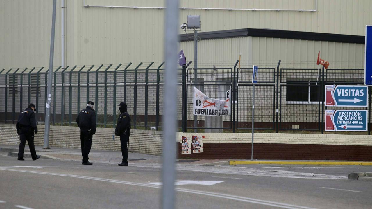 Entrada de la planta de Coca-Cola en la localidad madrileña de Fuenlabrada