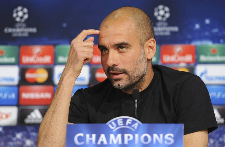 El entrenador del Bayern de Múnich, Josep Guardiola, en rueda de prensa.