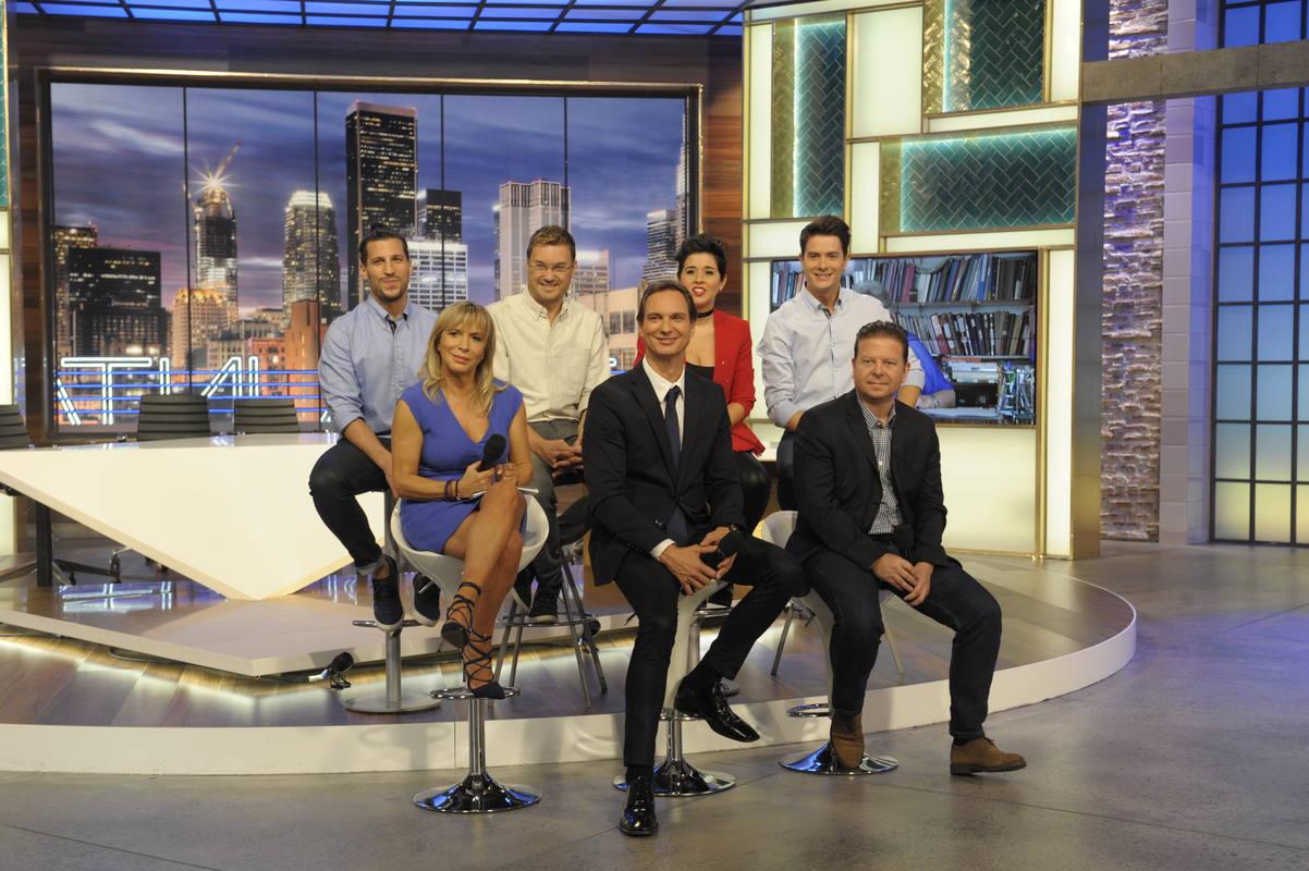 El equipo de 'Hora Punta', el nuevo programa de La 1, capitaneado por Javier Cárdenas