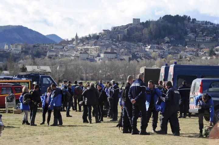 Equipos de rescate del avión de Germanwings